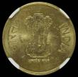 London Coins : A166 : Lot 1128 : India Five Rupees 2010 Mule, Obverse: Lion capital of Ashoka Pillar, Reverse: Logo of Commonwealth G...