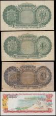 London Coins : A166 : Lot 140 : Bahamas Government Queen Elizabeth II issues (4) comprising  4 Shillings L. 1936 (1953) (2) includin...