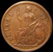 London Coins : A166 : Lot 1846 : Halfpenny 1672 Copper Proof Peck 509 GEF in an LCGS holder and graded LCGS 78, the finest of just tw...