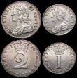 London Coins : A166 : Lot 1871 : Maundy Set 1740 ESC 2408, Bull 1771, comprising Fourpence 1740 ESC 1904, Bull 1782 NEF, Threepence 1...