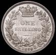 London Coins : A166 : Lot 2033 : Shilling 1850 50 over 49 or 46 ESC 1297, Bull 2997/2998 About VF/VF and Very Rare. All 1850 Shilling...