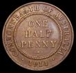 London Coins : A166 : Lot 2621 : Australia Halfpenny 1914H KM#22 NEF and scarce