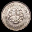 London Coins : A166 : Lot 3036 : Threepence (silver) 1943 ESC 2157, Bull 4294 Choice UNC in an LCGS holder and graded LCGS 90