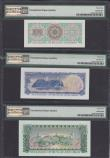 "London Coins : A166 : Lot 370 : Oman Sultanate of Muscat & Oman ND (1970) ""Rial Saidi"" Issues (3) all in PMG holders c..."