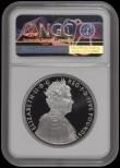 London Coins : A166 : Lot 604 : Five Pound Crown 2012 Diamond Jubilee of Queen Elizabeth II 3 OZ Platinum Proof FDC in an NGC holder...