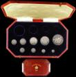 London Coins : A166 : Lot 668 : Proof Set 1902 a part Matt set (9 coins) Crown, Halfcrown, Florin, Shilling, Sixpence and Maundy Set...