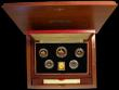 London Coins : A166 : Lot 958 : Gibraltar 1839 - 1989 Una and the Lion Gold Proof Set 5 coin set £5, £2, Sovereign and H...