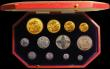 London Coins : A167 : Lot 100 : Proof Set 1911 Long Set (12 coins) comprising Gold Five Pounds, Gold Two Pounds, Sovereign, Half Sov...