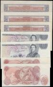 London Coins : A167 : Lot 1328 : Bank of England 10 Shillings to 5 Pounds including a few World War II Emergency issues (7) in variou...