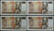 London Coins : A167 : Lot 1383 : Ten Pounds Page QE2 pictorial & Florence Nightingale B330 issues 1975 (4) a consecutively number...