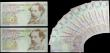London Coins : A167 : Lot 1405 : Bank of England Lowther 10 and 20 pounds 1999 issues (12) in consecutively numbered sets/pairs and m...