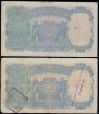 London Coins : A167 : Lot 1519 : India Reserve Bank 10 Rupees King George VI portrait in profile Pick 19a ND 1937 issues bearing the ...