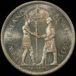London Coins : A167 : Lot 1987 : New Zealand Crown 1935 Waitangi Proof KM#6 nFDC and retaining much original mint brilliance, in a PC...