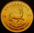London Coins : A167 : Lot 2017 : South Africa Krugerrand 1979 KM#73 UNC with a small rim nick