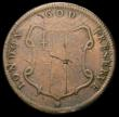 London Coins : A167 : Lot 2037 : USA Elephant Halfpenny undated, (c.1672) Breen 186, on a thick flan of 14.84 grammes, approaching Fi...