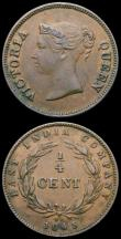 London Coins : A167 : Lot 2371 : Straits Settlements (2) Five Cents 1901H KM#10 GEF/AU and lustrous with an attractive golden tone, Q...
