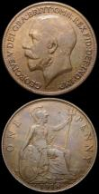 London Coins : A167 : Lot 2497 : Pennies (2) 1918H Freeman 183 dies 2+B GVF, 1918KN Freeman 184 dies 2+B GVF/VF once cleaned now reto...