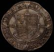 London Coins : A167 : Lot 386 : Halfcrown Elizabeth I Seventh Issue S.2583 mintmark 1 (1601) EF with some signs of die stress, the f...