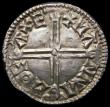 London Coins : A167 : Lot 406 : Penny Aethelred II Long Cross type, Exeter Mint, Moneyer Manna S.1151, 1.30 grammes, Near EF with to...