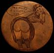 London Coins : A168 : Lot 1014 : Engraved Penny Edward VII the reverse a lady in period dress showing her bare backside and captioned...