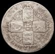 London Coins : A168 : Lot 1219 : Florin 1854 No Stop after date, as ESC 811A, Bull 2829 VG or better for wear, the flan corroded, wei...