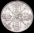 London Coins : A168 : Lot 1233 : Florin 1892 ESC 874, Bull 2960 GEF/AU and lustrous with some light contact marks, a very rare date, ...