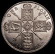 London Coins : A168 : Lot 1244 : Florin 1925 ESC 944, Bull 3777 EF/GEF and lustrous, in an LCGS holder and graded LCGS 65