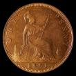 London Coins : A168 : Lot 1444 : Penny 1861 Freeman 22 dies 4+D Choice UNC and almost fully lustrous, slightly subdued on the reverse...