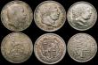 London Coins : A168 : Lot 1721 : Halfcrowns to Sixpences a small group (7) Halfcrowns (2) 1816 VF, 1823 Second Reverse Fine, Florin 1...