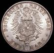 London Coins : A168 : Lot 2009 : German States - Prussia 2 Marks 1888A Friedrich KM#510 Sharp and lustrous UNC, minor contact marks o...