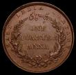 London Coins : A168 : Lot 2024 : India Quarter Anna 1858 (w) KM#463.1 About EF