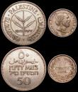 London Coins : A168 : Lot 2108 : World (3) Palestine 50 Mils 1933 KM#6 GVF, South Africa 2 1/2 Shillings 1897 KM#7 GVF and nicely ton...