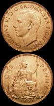 London Coins : A168 : Lot 2246 : Pennies 1951 (2) Freeman 242 dies 3+C both UNC with around 75% lustre