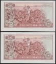 London Coins : A168 : Lot 225 : Malawi Reserve Bank 1 Kwacha Pick 10c dated 31st January 1975 (2) a consecutively numbered pair seri...