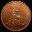 London Coins : A168 : Lot 2267 : Penny 1885 with part of an extra linear circle to the left of the date LCGS Variety 4 UNC in an LCGS...