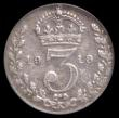 London Coins : A168 : Lot 2349 : Threepence 1919 last 9 over 8 Davies 1933 LCGS 15 and rare