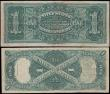 London Coins : A168 : Lot 292 : United States Treasury & Silver Certificate 1 Dollars (2) comprising the Exceptionally Rare 1 Do...