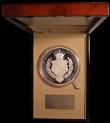 London Coins : A168 : Lot 391 : Five Hundred Pounds 2017 Queen Elizabeth II Sapphire Jubilee One Kilo Silver Proof S.R7 FDC in a Roy...