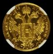 London Coins : A168 : Lot 758 : Austria Gold Ducat 1915 Restrike KM#2267 in a NGC holder and graded MS67