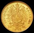 London Coins : A168 : Lot 780 : German States - Prussia 10 Marks 1873A KM#502 in an NGC holder and graded MS66, a choice example wit...