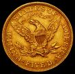 London Coins : A169 : Lot 1122 : USA Five Dollars Gold 1895 Breen 6758 NEF with some light contact marks