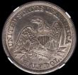 London Coins : A169 : Lot 1128 : USA Half Dollar 1844 O, Normal Date, Larger O, Breen 4773 in an NGC holder 'AU Details - Cleane...