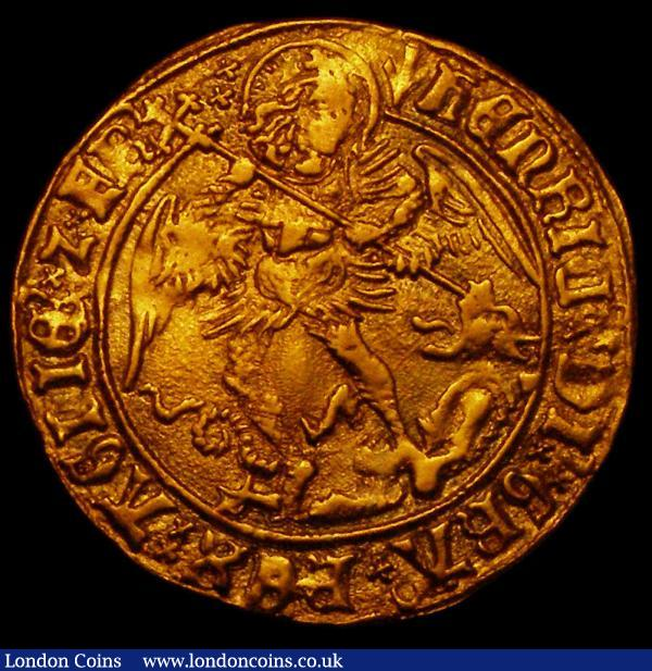 Angel Henry VII S.2187 mintmark Pheon, 4.99 grammes, VF gilded  : Hammered Coins : Auction 169 : Lot 1170