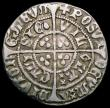 London Coins : A169 : Lot 1205 : Halfgroat Henry VI Pinecone-Mascle issue, Calais Mint S.1877 mintmark Cross Fleury/Plain Cross, 1.87...