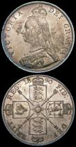 London Coins : A169 : Lot 1350 : Double Florins (2) 1889 ESC 398, Bull 2701 GVF/NEF once cleaned, 1890 ESC 399, Bull 2703 NEF/EF and ...
