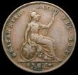 London Coins : A169 : Lot 1381 : Farthing 1844 Peck 1565 Fine with some dirt in the legends, Rare