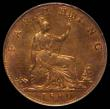 London Coins : A169 : Lot 1412 : Farthing 1880 4 Berries, Open 8 in date, LCGS variety 02, Rare and unlisted by Peck, of comparable q...
