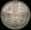 London Coins : A169 : Lot 1464 : Florin 1868 ESC 833, Bull 2866, Davies 748 dies 3B Die Number 19, Top Cross overlaps border beads GV...