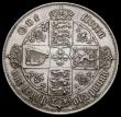 London Coins : A169 : Lot 1465 : Florin 1871 ESC 837, Bull 2874, Davies 753 dies 3A Die Number 50, Top Cross does not touch border be...
