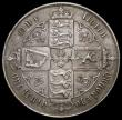 London Coins : A169 : Lot 1469 : Florin 1880 ESC 854, Bull 2900, Davies 771 dies 7B, NEF with some light toning in the legends, the o...